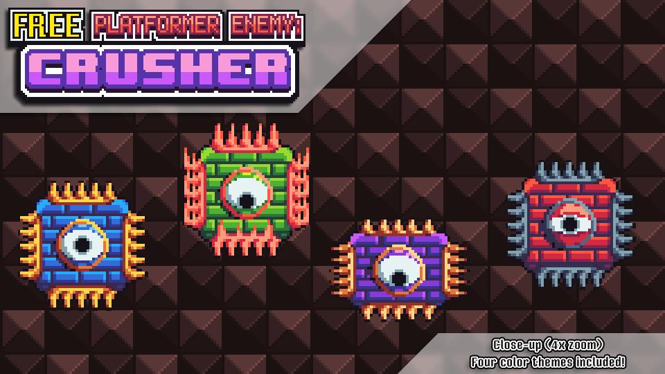 New Art Pack: FREE Crusher Enemy |